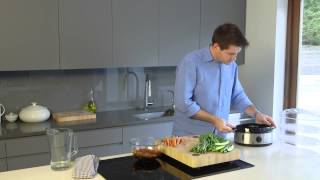 Russell Hobbs UK   Three Tier Food Steamer - How to steam salmon and vegetables