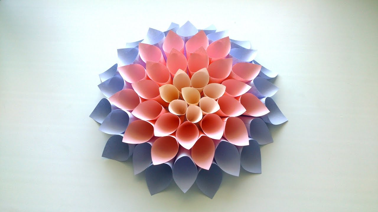 Diy Giant Paper Flower Tutorial Youtube