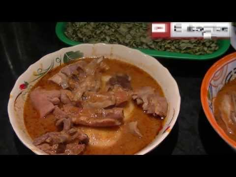 Fufuo ne Nsesawankwan (Fufu and All Purpose soup with an assortment of meats)