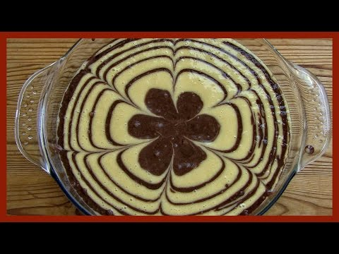 Zebra Cake Recipe | Chocolate and Vanilla Cake