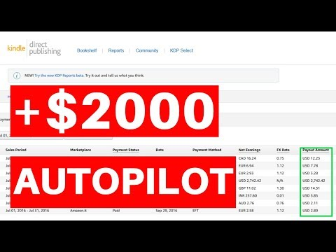 How to Make $2000+ Every Month in Passive Income Through Amazon KDP (Beginner friendly)