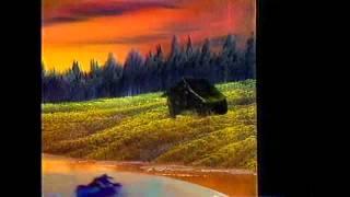 Bob Ross - Gemälde Abend bei Sonnenuntergang - Malerei Video