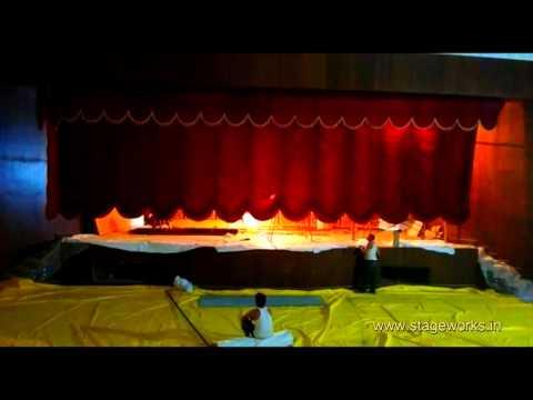 "Auditorium Motorized Curtain ""VERTICAL STAGE CURTAIN"""