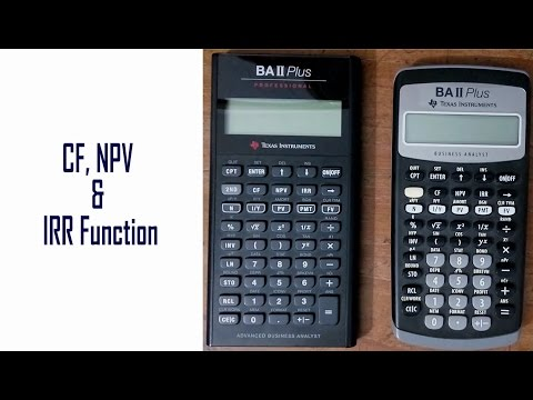 CF, NPV and IRR Function: BAII Plus Financial Calculator Tutorial