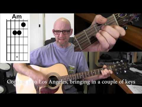 ARLO GUTHRIE - COMING INTO LOS ANGELESAcoustic guitar tutorial with chords and lyrics