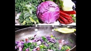 Healthy Savory Sauteed Red Chard & Greens