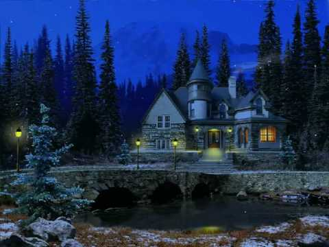 3d Snowy Cottage Animated Wallpaper Free Download 3d Snowy Cottage Screensaver Youtube