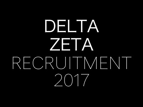 Delta Zeta - University of Virginia Recruitment 2017