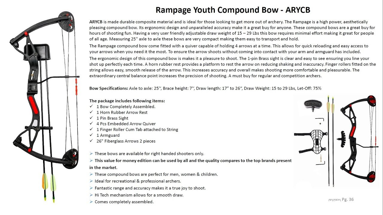 Rampage Youth Compound Bow - ARYCB