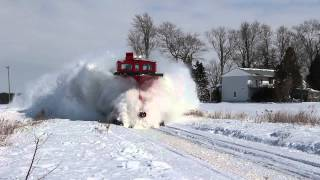 Ontario Southland Railway plow chase
