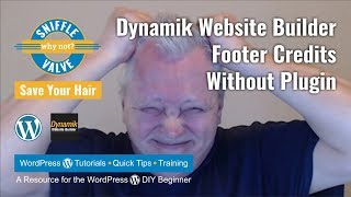 Dynamik Website Builder - Footer Credits Without Plugin