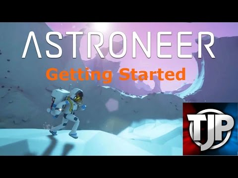 Astroneer Ep.1 Getting Started:  Base setup, solar panels and wind turbines.