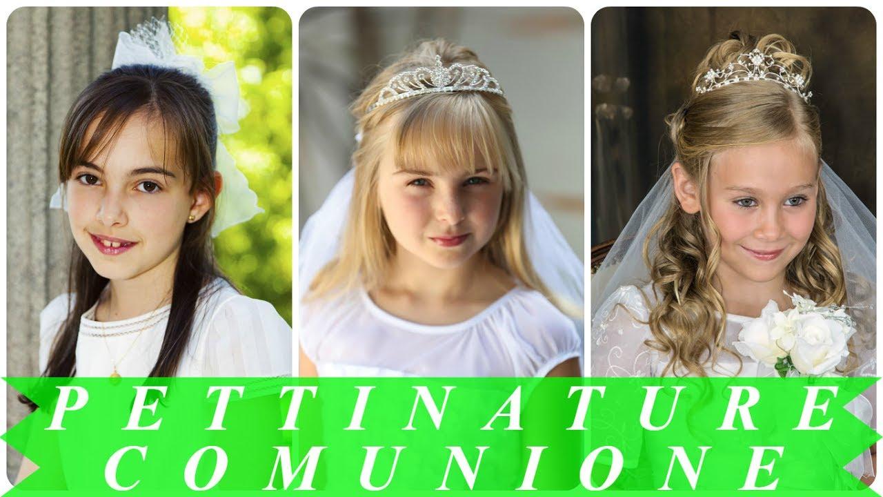 Acconciature Capelli Lunghi Bambina Per Comunione Pinterest
