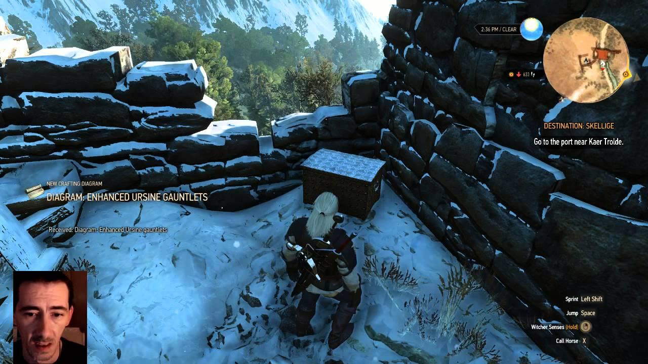 Witcher 3: Wild Hunt Enhanced Ursine Gauntlets Bear School Gear ...