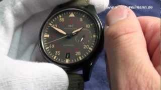 IWC Große Fliegeruhr Top Gun Miramar(http://www.uhren-wellmann.de - Handel mit hochwertigen Uhren Video einer IWC Große Fliegeruhr Top Gun Miramar, Big Pilot, Automatik, Kaliber 51111, ..., 2013-01-18T13:37:33.000Z)