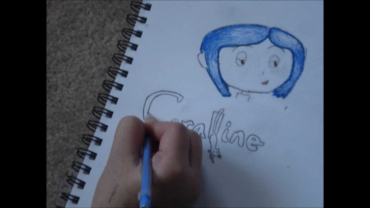Drawing Coraline Stop Motion Youtube