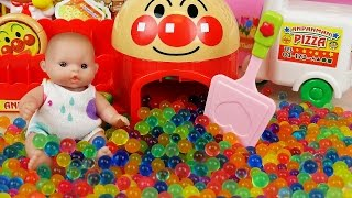 Baby Doll and pizza store Orbeez Surprise eggs toys