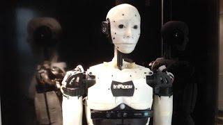 InMoov shows his back. 3D print robotic