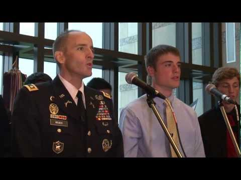 "Dying Soldier Sings ""Tell My Father"" with his Son"