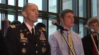 """Dying Soldier Sings """"Tell My Father"""" with his Son"""