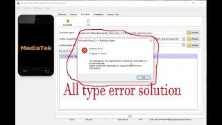 How To Sp Flash Tool Mismatch Problem