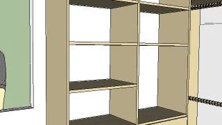 Closet Layout With Plan And Dimensions