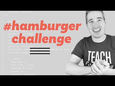 Making An Animated Hamburger Button And A Challenge To You!