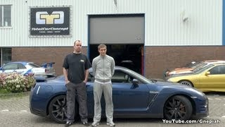 F1 Driver Vitaly Petrov picked up his Nissan GT-R in Holland