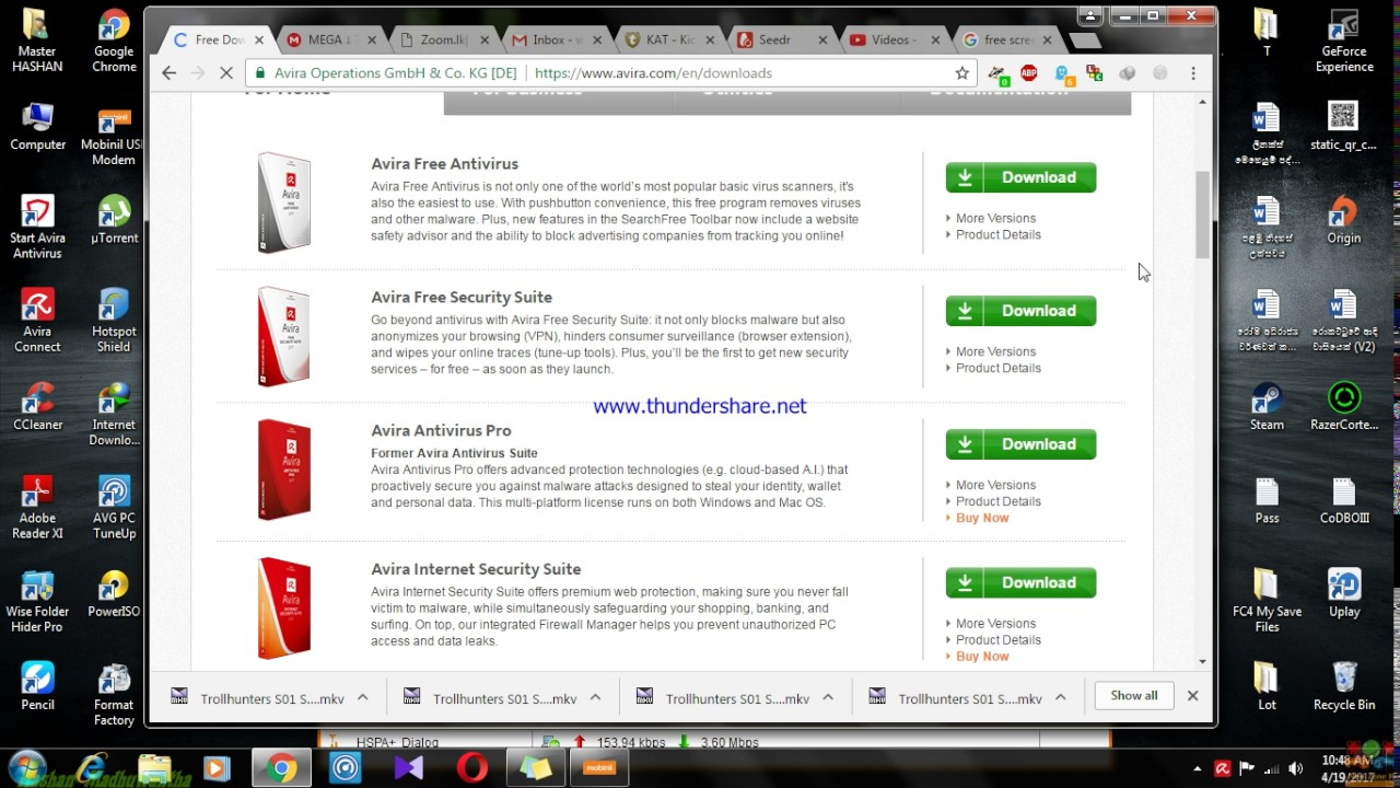 How to Download any version of Avira Antivirus (2017 or Any   ) and Install  Offline !