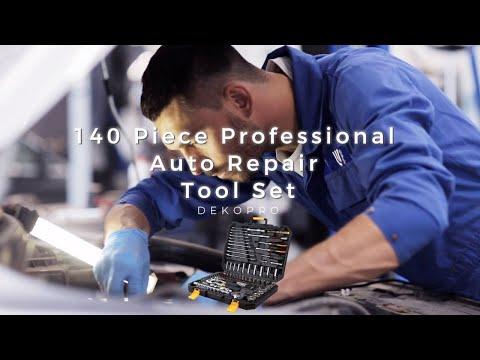 DEKOPRO 140 Piece Professional Auto Repair Tool Set Demonstration