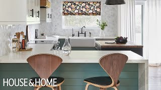 Makeover: Modern Green Country Kitchen