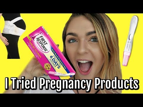 im pregnant.....?! so i am testing out pregnancy products! *LIVE PREGNANCY TEST*