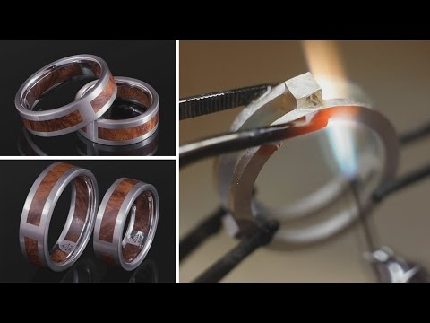 Crafting a Silver Ring with Wood
