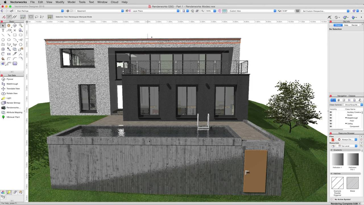 Architektur Rendering Lernen Rendering In Vectorworks Basic Render Modes