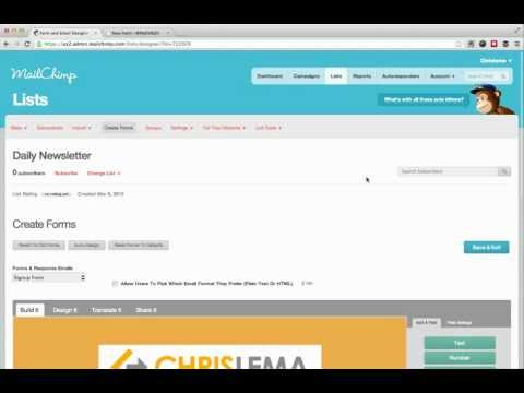 Creating an Email Newsletter with MailChimp and your Site's RSS feed