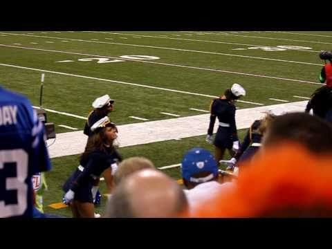 Indianapolis Colts Cheerleaders Dancing on Sideline at Lucas Oil Stadium on 11/14/10