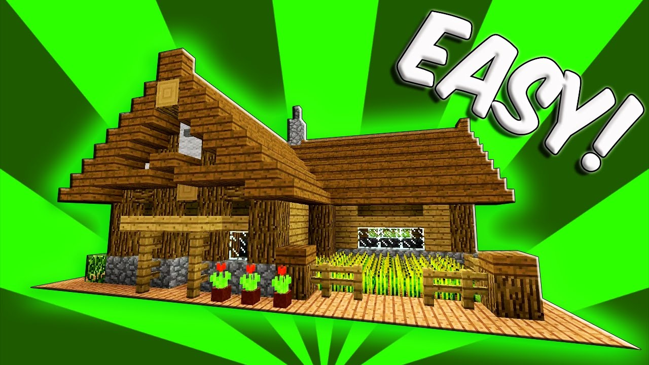 Minecraft how to build a small survival starter house for Small starter homes