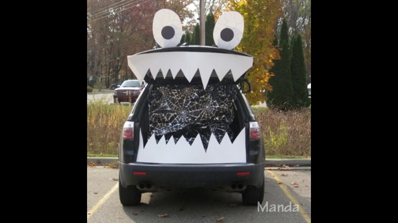trunk or treat halloween car decoration ideas to dress up your car
