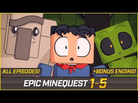 EPIC MINEQUEST (ALL EPISODES) + BONUS ENDING | Remastered Version