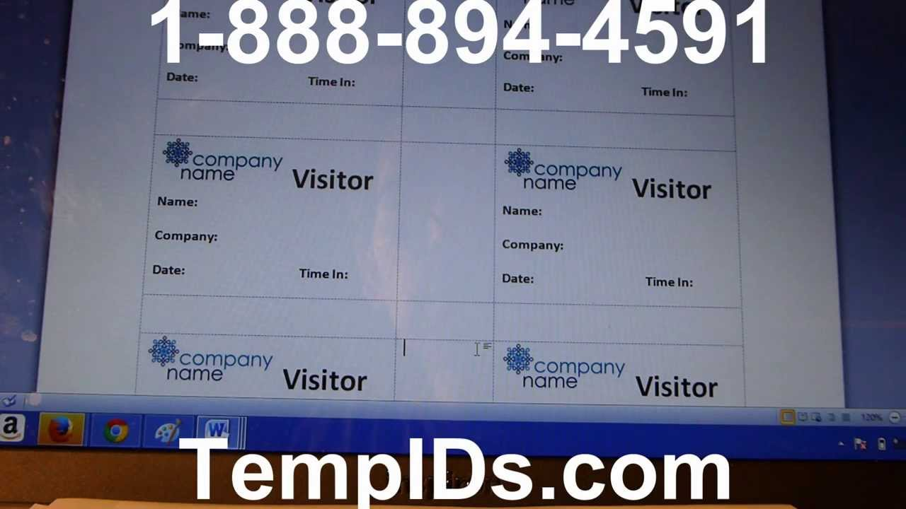 Free Design Template Tutorial For Expiring Visitor Badges With Label Sheets