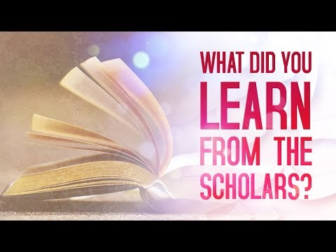 What Did You Learn From The Scholars?