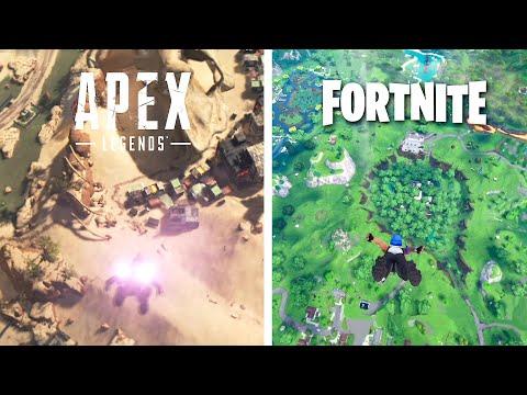 Fortnite Vs. Apex Legends Comparison | Gameplay, Animations & Graphics