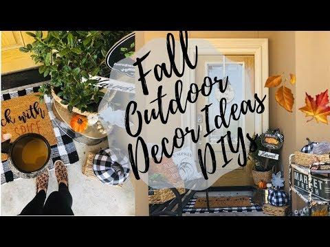 DOLLAR TREE FALL DIYS / GIVEAWAY/FALL OUTDOOR DECOR IDEAS/
