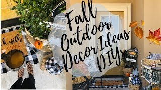 DOLLAR TREE FALL DIYS / GIVEAWAY/FALL OUTDOOR DECOR IDEAS/