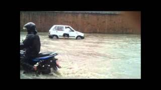 Street of Kathmandu in Heavy Rainfall