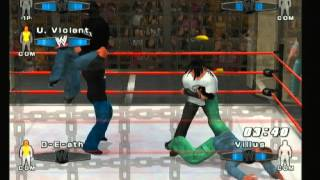 WWE SVR 2006 Hacked Moveset CAW fight
