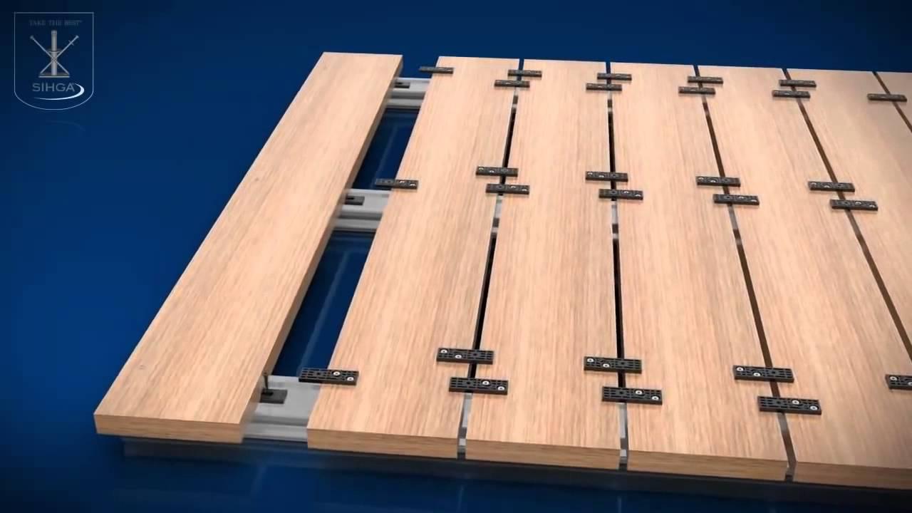 System mocowania desek tarasowych