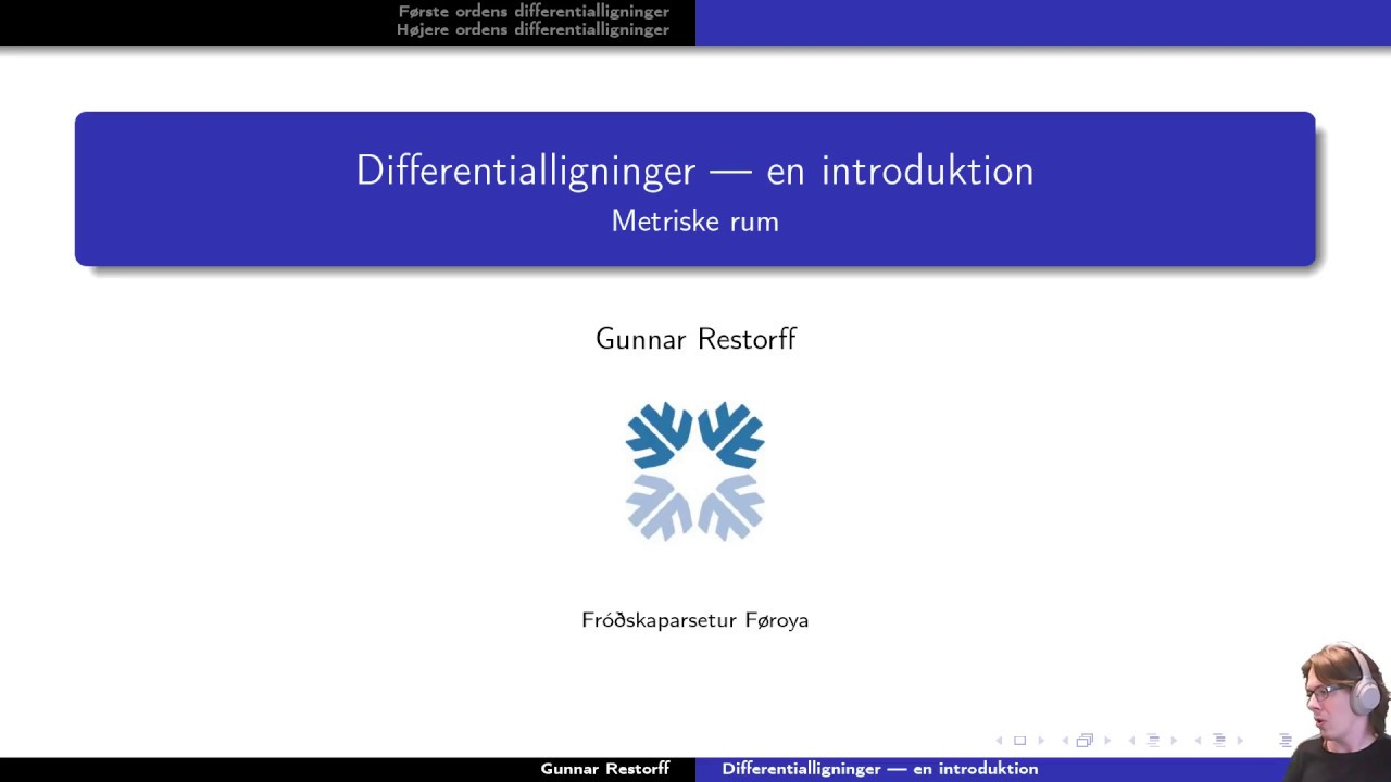 Metriske rum - 11.1 Differentialligninger - introduktion