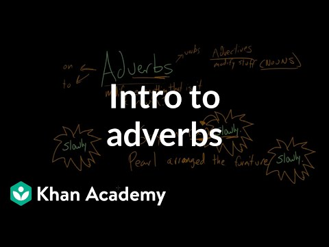 Intro to adverbs | The parts of speech | Grammar | Khan Academy