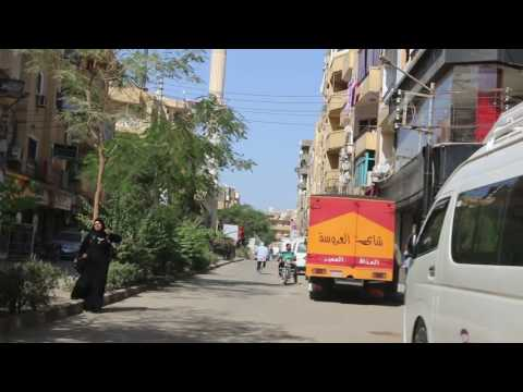 Riding though the heart of Luxor, Egypt